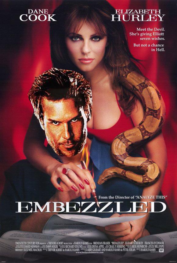 embezzled