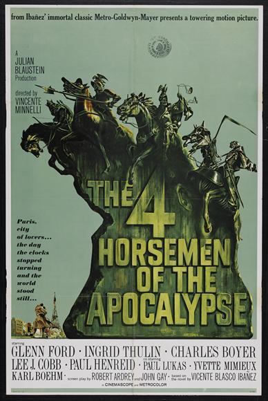 4 horseman of the apocalypse movie poster ver3 | Movie ...