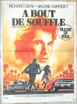 a bout de souffle french poster breathless