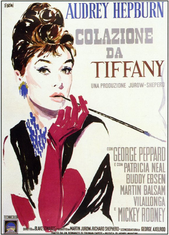breakfast at tiffany s italian movie poster movie poster museum. Black Bedroom Furniture Sets. Home Design Ideas