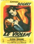 in a lonely place french movie poster