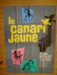 yellow canary french poster