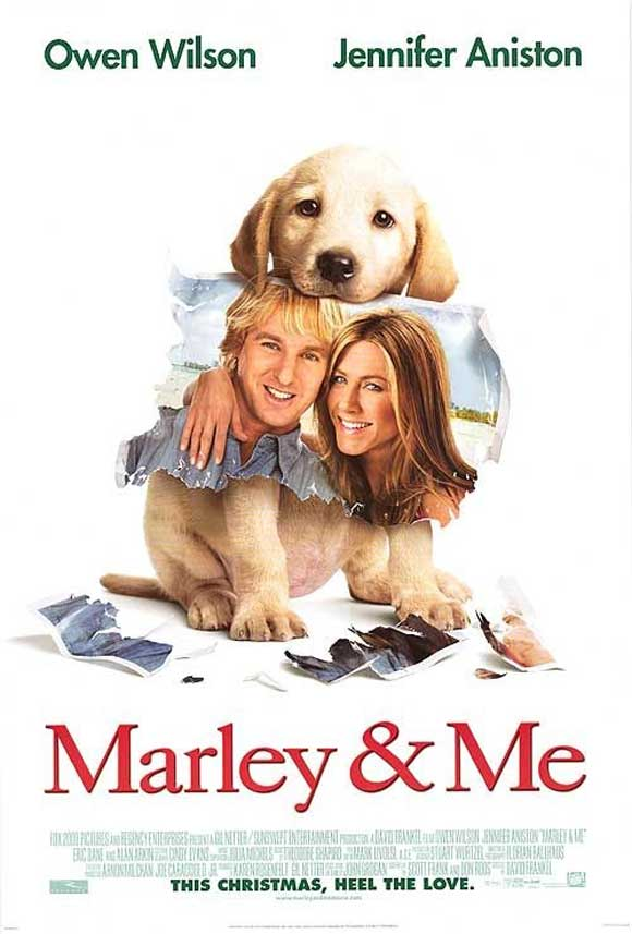 marley and me poster. marley and me movie poster