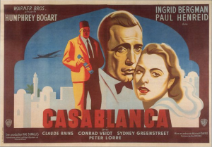 casablanca french movie poster herve morvan