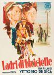 the bicycle thief italian movie poster brini
