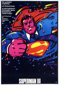 superman 3 polish movie poster swierzy