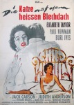 cat on a hot tin roof german movie poster braun