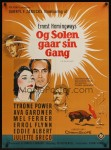 the sun also rises danish movie poster stilling