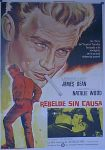 rebel without a cause mcp art spanish movie poster