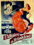 1952 L'affaire de Trinidad french poster boris grinsson