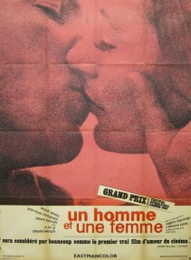 homme et une femme a man and a woman french poster affiche