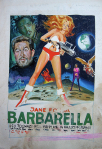 barbarella originale d'affiche italienne de cinéma de MOS Mario De Berardinis