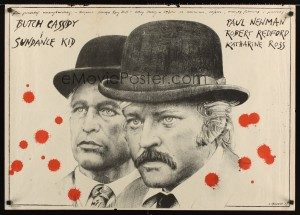 polish_26x38_butch_cassidy_and_the_sundance_kid poster andrzej pagowski