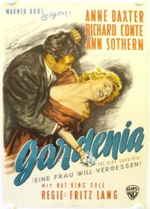 blue gardenia film noir german poster