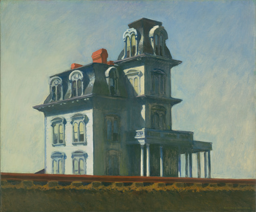 house by the railroad edward hopper