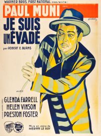 i am a fugitive from a chain gang french poster joseph koutachy