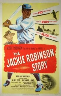 jackie robinson story movie poster
