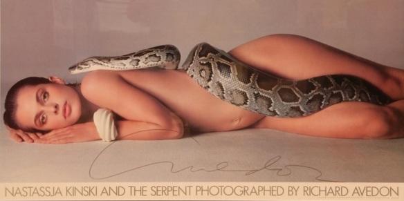 nastassja kinski snake serpent poster richard avedon
