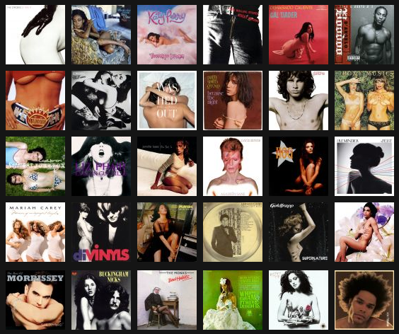 music sexiest album covers time