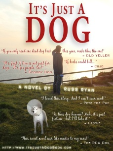 it's just a dog book cover blurbs