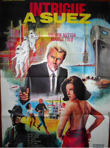 intrigue a suez affiche french movie poster